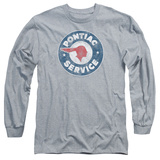 Long Sleeve: Pontiac- Vintage Pontiac Service T-Shirt