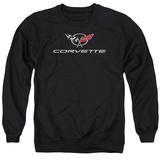 Crewneck Sweatshirt: Chevy- Modern Corvette Logo Shirts