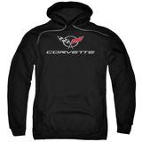 Hoodie: Chevy- Modern Corvette Logo Pullover Hoodie