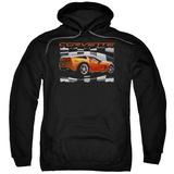 Hoodie: Chevy- Orange Z06 Vette Pullover Hoodie