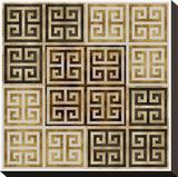 Greek Key II Stretched Canvas Print by Ellie Roberts
