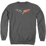 Crewneck Sweatshirt: Chevy- Modern Corvette Emblem T-Shirt
