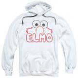 Hoodie: Sesame Street- Elmo Stencil Letters Pullover Hoodie