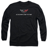 Long Sleeve: Chevy- Modern Corvette Logo Shirts