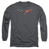 Long Sleeve: Chevy- Modern Corvette Emblem Shirt