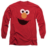 Long Sleeve: Sesame Street- Big Elmo Face T-shirts