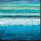 Aqua Tranquility Stretched Canvas Print by Taylor Hamilton