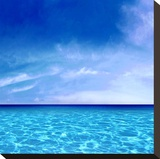 Sky and Water Stretched Canvas Print by Charlie Carter