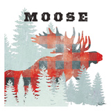 Moose Plaid Poster by Tina Carlson