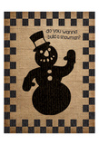 Burlap Christmas 2 Prints by Melody Hogan