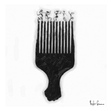Afro Pick Print by Taylor Greene