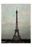 Eiffel Sepia Poster by Tracey Telik