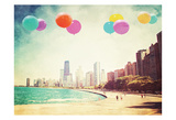 Chicago Balloons Over the City Posters par Ashley Davis