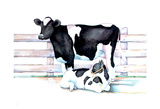 Big Moo Lil Moo Posters by Laurie Korsgaden