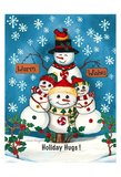 Holiday Hugs Poster by Laurie Korsgaden