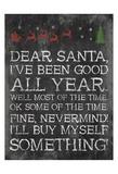 Dear Santa Nevermind Poster van Jace Grey
