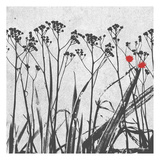 Crimson Ink Plants 2 Prints by Alonzo Saunders