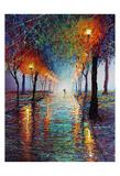 Rainy Day Stroll Prints by Michael Romero