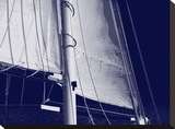 Schooner Sails I Stretched Canvas Print by Charlie Carter