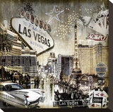 Las Vegas Stretched Canvas Print by Dylan Matthews