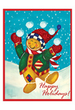 Happy Holidays Prints by Laurie Korsgaden