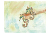 Crystal Tone Seahorse Prints by Beverly Dyer