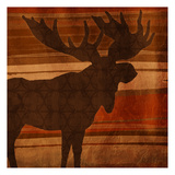 Moose Stripes Mate Print by Jace Grey