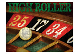 High Roller Casino Grunge 1 Posters by Melody Hogan