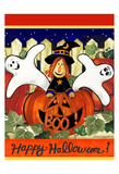 Happy Halloween Print by Laurie Korsgaden