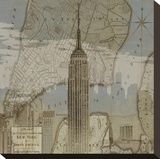 Vintage NYC I Stretched Canvas Print by Dylan Matthews