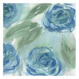 Blue Green Roses II Poster par Beverly Dyer