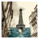Teal Eiffel Tower 1 Prints by Dianne Poinski