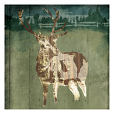 Deer In The Field Prints by  OnRei