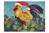 Mr Christmas Rooster Prints by Laurie Korsgaden