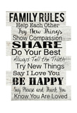 Family Rules Prints by Jane Fox