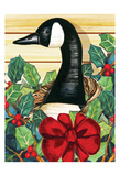 Christmas Goose Poster by Laurie Korsgaden
