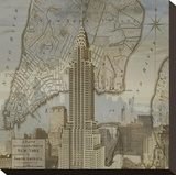 Vintage NYC II Stretched Canvas Print by Dylan Matthews