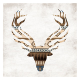 Aztec Deer Mate Posters by Jace Grey