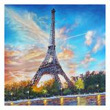 Paris Single Canvas Prints by Michael Romero