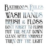 Regole della stanza da bagno, in inglese Arte di Jace Grey