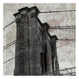 Vintage Brooklyn Bridge Prints by Sheldon Lewis