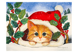 Christmas Kitten Prints by Laurie Korsgaden