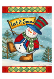 Let it Snow Art by Laurie Korsgaden
