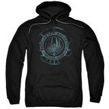 Hoodie: Battle Star Galactica- Faded Insignia Pullover Hoodie