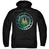 Hoodie: Battle Star Galactica- Stellar Insignia Pullover Hoodie