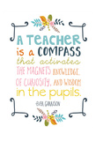 Teacher Quote Poster by Ashley Davis