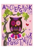 Owl Set Numlet Pinks 1 Print by Melody Hogan