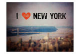 I Heart NY Affiches par Ashley Davis