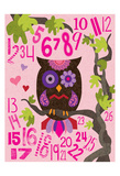 Owl Set Numlet Pinks 2 Prints by Melody Hogan