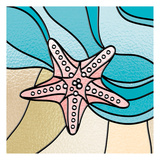 Starfish Stained Glass Print by Marcus Prime